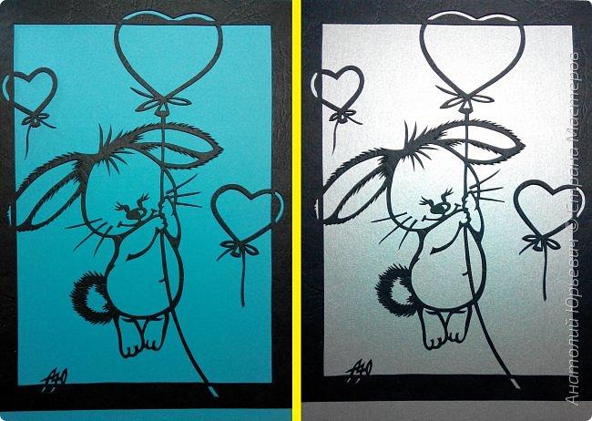 """Всем добрый день! Вашему вниманию новая открытка, которая  порадует не только детей, но и взрослых:)) Рисунок для эскиза был взят из интернета, немного изменён (мордашка была там слишком грустная) и доработан под """" вырезалку"""". Размер 12х16 см. фото 6"""