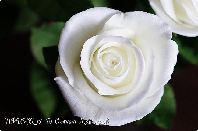 Здравствуйте!  Я как всегда  с фоамирановыми цветами!  Приглашаю к просмотру.  Букет из 15 полноразмерных роз.  фото 29