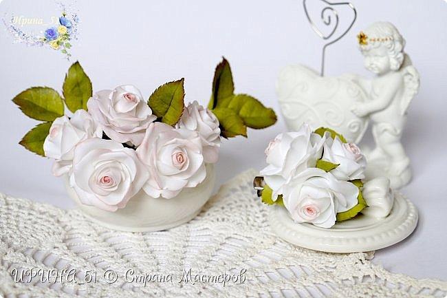 Здравствуйте!  Я как всегда  с фоамирановыми цветами!  Приглашаю к просмотру.  Букет из 15 полноразмерных роз.  фото 10