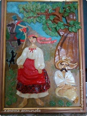 """Картина-иллюстрация к известной поэме Т.Г. Шевченко """"Катерина"""""""