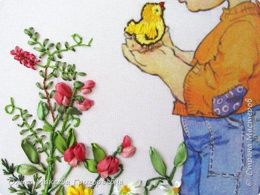 Доброе утро СМ!!! Продолжение детской темы.Формат А-4, основа габардин, ленты атлас. фото 3