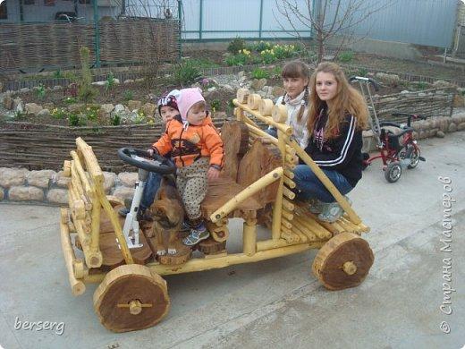 Это наш Быстромобиль. Сделан для детей как начало  к большой игровой площадке фото 6