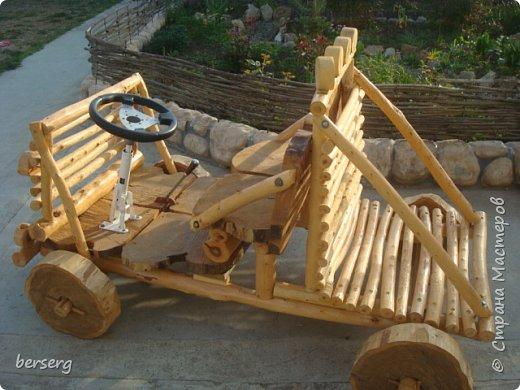 Это наш Быстромобиль. Сделан для детей как начало  к большой игровой площадке фото 2