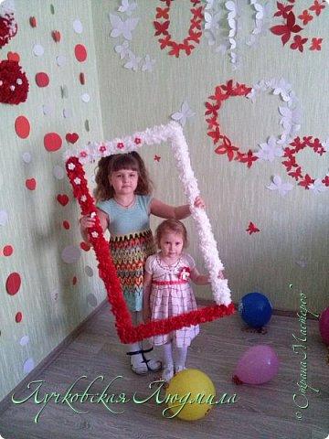 Моей доченьки уже 2!!! Оформила фотозону для дня пождения. фото 5