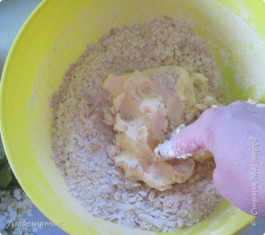 """Всем добрый день!  Сегодня я к вам с рецептом изумительно вкусных овсяных печений. Рецепт очень удачный, рекомендую!!!   Состав:  250 г муки 200 г сахара 250 г овсяных хлопьев """"Геркулес"""" 200 г маргарина или сливочного масла 2 яйца 1 столовая ложка мёда 100 г семян кунжута 1 чайная ложка разрыхлителя теста  фото 8"""