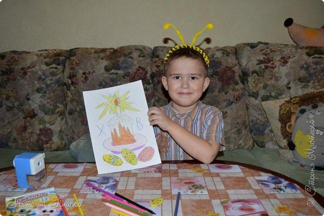 Всем привет! Сегодня хочу показать вам работы моих мальчишек, посвященные самому светлому и доброму празднику - Пасхе. фото 11