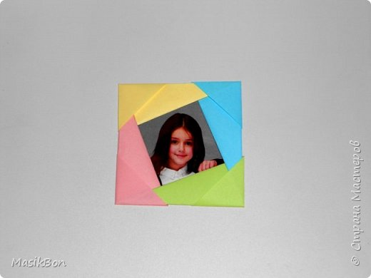 Фоторамка из бумаги Поделки оригами для детей