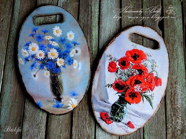 Всем доброго дня! Сегодня у меня мои любимые полевые цветы и нелюбимые макароны. В разное время нужно было быстренько придумать быстренькие подарки - сделала наборы (один из них, можно сказать, уже давнишний). Первый - две досочки.