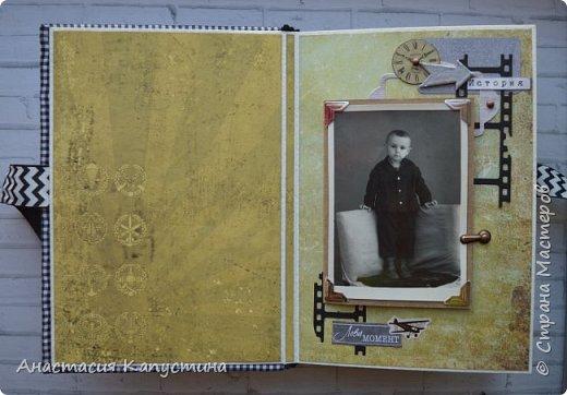Альбом для папы на 55-летие. Вмещает 70 фото размеров 8*10. Размер страниц 21*14,5, обложки - 21,5*15 фото 3