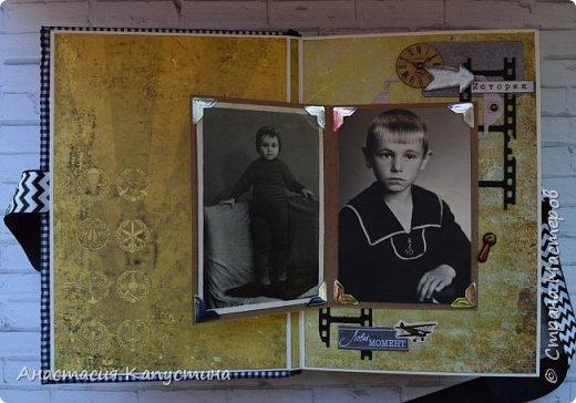 Альбом для папы на 55-летие. Вмещает 70 фото размеров 8*10. Размер страниц 21*14,5, обложки - 21,5*15 фото 4