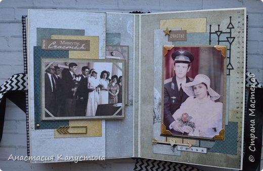 Альбом для папы на 55-летие. Вмещает 70 фото размеров 8*10. Размер страниц 21*14,5, обложки - 21,5*15 фото 10