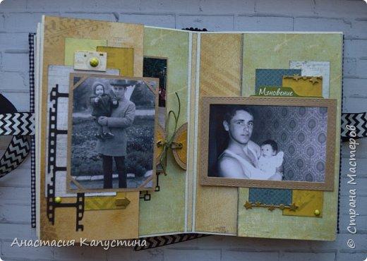 Альбом для папы на 55-летие. Вмещает 70 фото размеров 8*10. Размер страниц 21*14,5, обложки - 21,5*15 фото 12