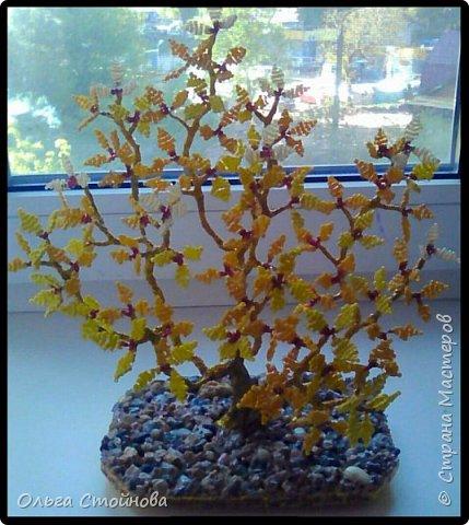 Деревце из бисера фото 1