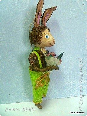 Всем привет! Уже соскучилась. Хотела сделать небольшой перерыв, но Кролик Гиви не согласен! Он конечно трусишка, но очень хочет со всеми познакомиться...  Ростик 18 см c ушками, легкий, темперамент южный, морально устойчив. фото 2