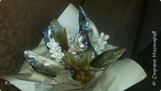 Букет из рыбы и фисташек фото 1