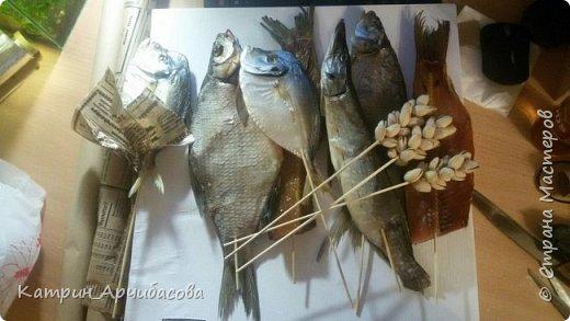 Букет из рыбы и фисташек фото 2