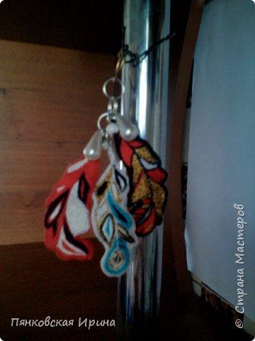 Брелок вышивка узелком фото 3