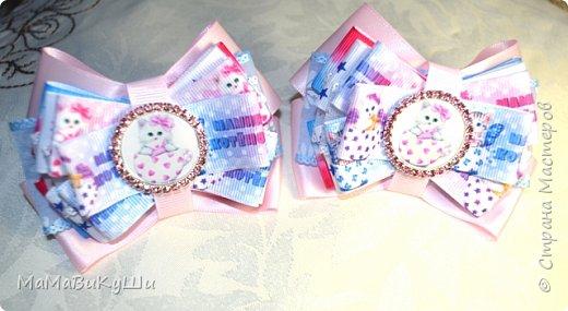 Мои новые бантики для маленьких принцесс. фото 6