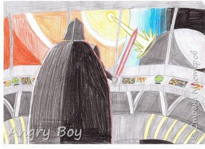 4 мая - день Звездных Войн. И я нарисовал рисунок к 40-летию культовой саги.