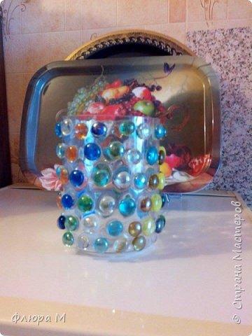 """обклеила вазу из """"Икеи"""" стразами; получилось так фото 2"""