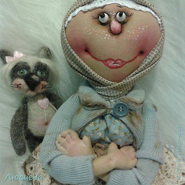 Текстильная кукла ручной работы - домовенок ВАСЯ фото 5
