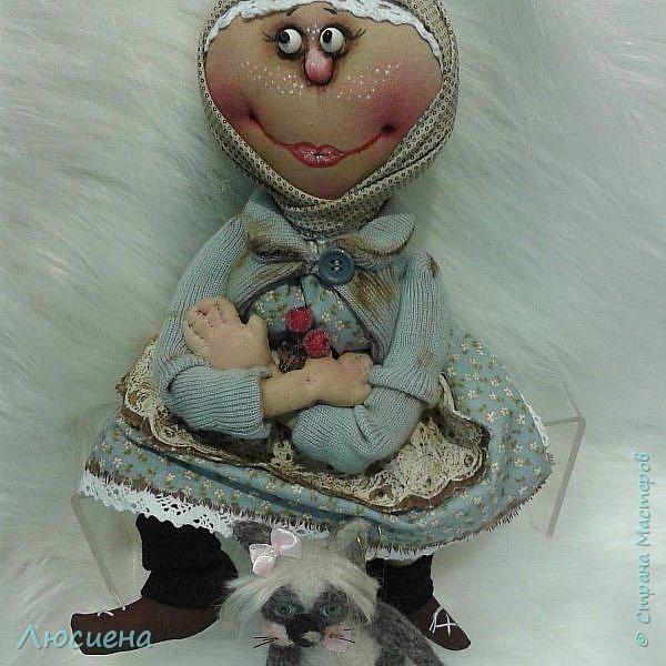 Текстильная кукла ручной работы - домовенок ВАСЯ фото 6