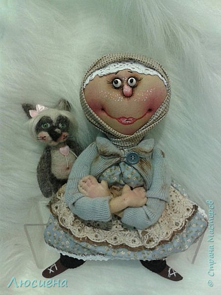 Текстильная кукла ручной работы - домовенок ВАСЯ фото 7