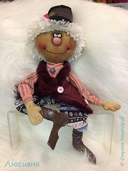Текстильная кукла ручной работы - домовенок ВАСЯ фото 3