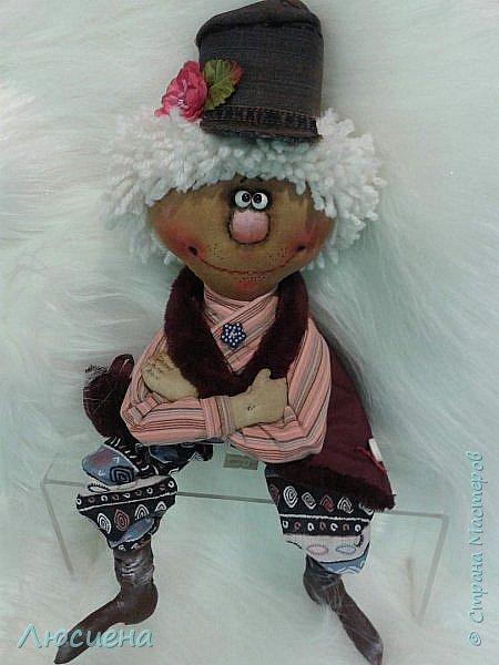 Текстильная кукла ручной работы - домовенок ВАСЯ фото 4
