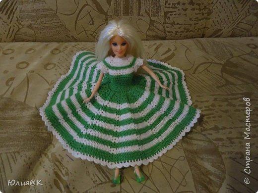 """Ко мне в руки попала Барби в не очень хорошем состоянии. Я ее отмыла, сделала """"новые """" волосы и приодела. Это конечный результат куколки...))) фото 2"""