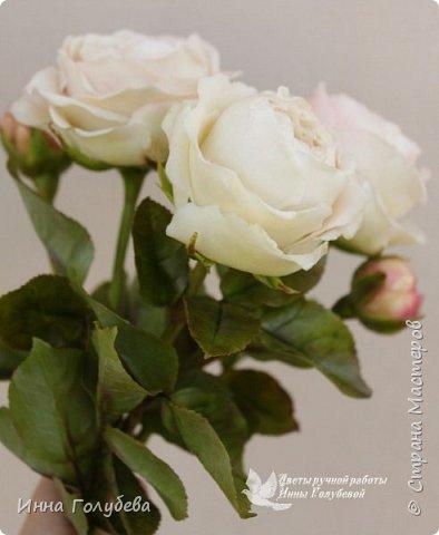 Английские розы из холодного фарфора. фото 15