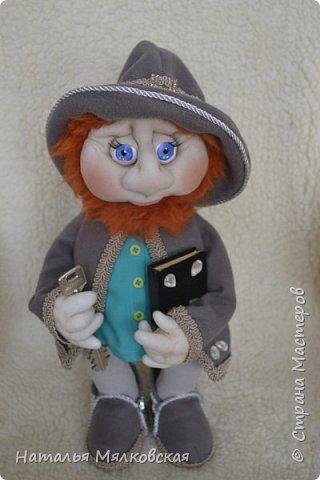 Всем привет! Хочу познакомить Вас с новой куклой.Гном сшитый по МК Ирины Мокреевой.( Мне очень нравятся ее работы,за что ей очень благодарна!)   фото 1