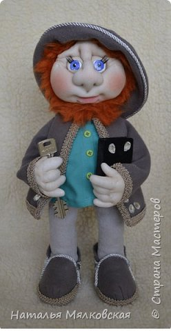 Всем привет! Хочу познакомить Вас с новой куклой.Гном сшитый по МК Ирины Мокреевой.( Мне очень нравятся ее работы,за что ей очень благодарна!)   фото 5