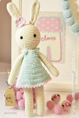 Lovely crochet bunny фото 1