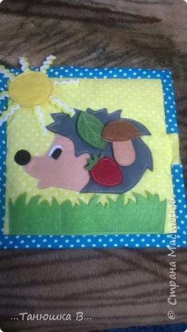 Вот она моя попытка №4 - книжечка для малышки. На обложке уже знакомая совушка (играем в ку-ку). фото 12