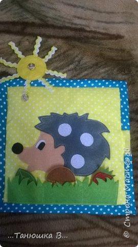 Вот она моя попытка №4 - книжечка для малышки. На обложке уже знакомая совушка (играем в ку-ку). фото 13