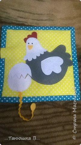 Вот она моя попытка №4 - книжечка для малышки. На обложке уже знакомая совушка (играем в ку-ку). фото 14