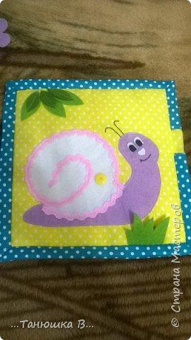 Вот она моя попытка №4 - книжечка для малышки. На обложке уже знакомая совушка (играем в ку-ку). фото 16