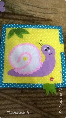 Вот она моя попытка №4 - книжечка для малышки. На обложке уже знакомая совушка (играем в ку-ку). фото 17