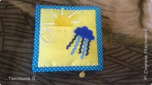 Вот она моя попытка №4 - книжечка для малышки. На обложке уже знакомая совушка (играем в ку-ку). фото 5