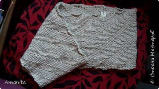 В подарок зятю связала такой комплект из оставшихся от свитера ниток. Пряжа LANAGOLD PLUS (Alize), 100г=140м, 49% шерсти и 51% акрила. фото 3