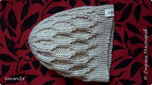 В подарок зятю связала такой комплект из оставшихся от свитера ниток. Пряжа LANAGOLD PLUS (Alize), 100г=140м, 49% шерсти и 51% акрила. фото 2