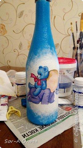 Подарочная бутылка на рождение малыша! фото 4
