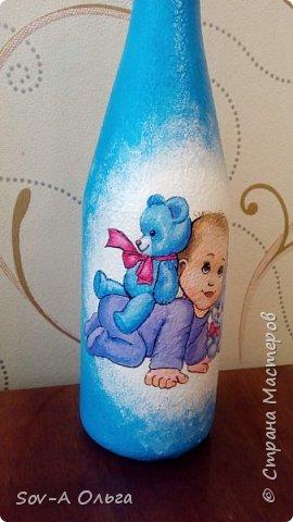 Подарочная бутылка на рождение малыша! фото 6