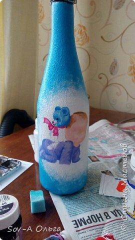 Подарочная бутылка на рождение малыша! фото 3