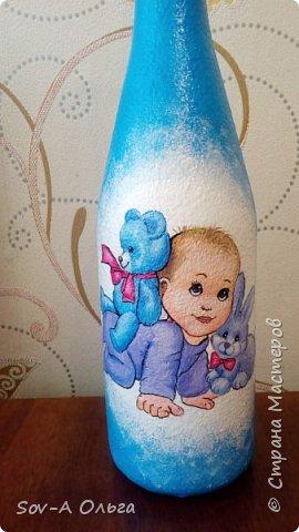 Подарочная бутылка на рождение малыша! фото 1