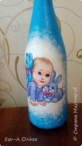Подарочная бутылка на рождение малыша! фото 7