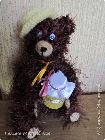 Привет всем! А у нас медведей прибыло!  Наш бурый пытается приучить панду к меду  в связи с отсутствием бамбука  на огороде.  А  у панды в лапе ложка , а в глазах  нерешительность. фото 3