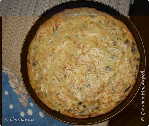 Добрый вечер  друзья и гости сайта! Сегодня хочу поделиться с вами очередным рецептом пирога.  Это один из моих любимых пирогов!   Рецепт:  Для теста: 100 г сливочного масла или маргарина 0,5 стакана сметаны 0,5 чайной ложки соды, погашенной уксусом 1,5 стакана муки  Для начинки: вареные грибы лук репчатый сыр  Для заливки: 1 стакан сметаны 1 яйцо 2 столовые ложки муки соль, перец по вкусу зелень (укроп, петрушка)  фото 1