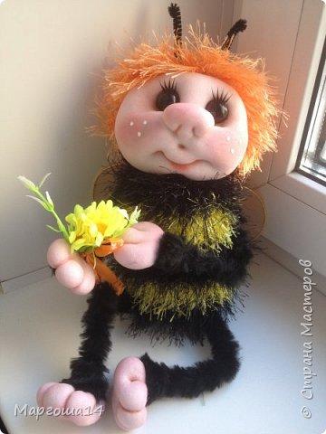 Здравствуйте,Страна Мастеров!!!Решила показать,как я делаю пчёлок,может кому-нибудь пригодится.  фото 14